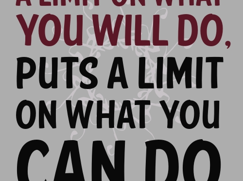 NO Limit!: What Is Yours?